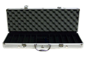 500 & 300 pc. locking aluminum cases, for quality poker chips